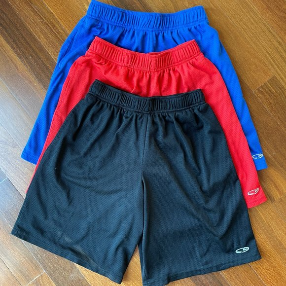 3 Pairs of Boys C9 by Champion Athletic Running Basketball Sport shorts
